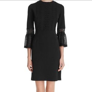 Nanette Lepore Black Bell Sleeve Dress